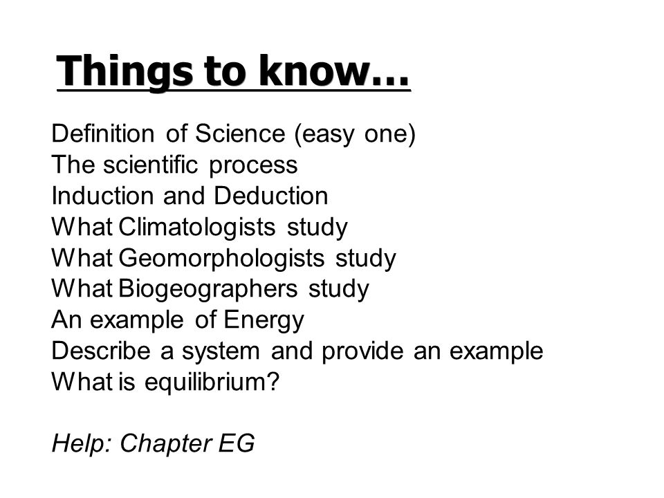 What is the easy definition of science?