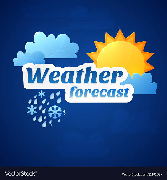Weather forecast update.