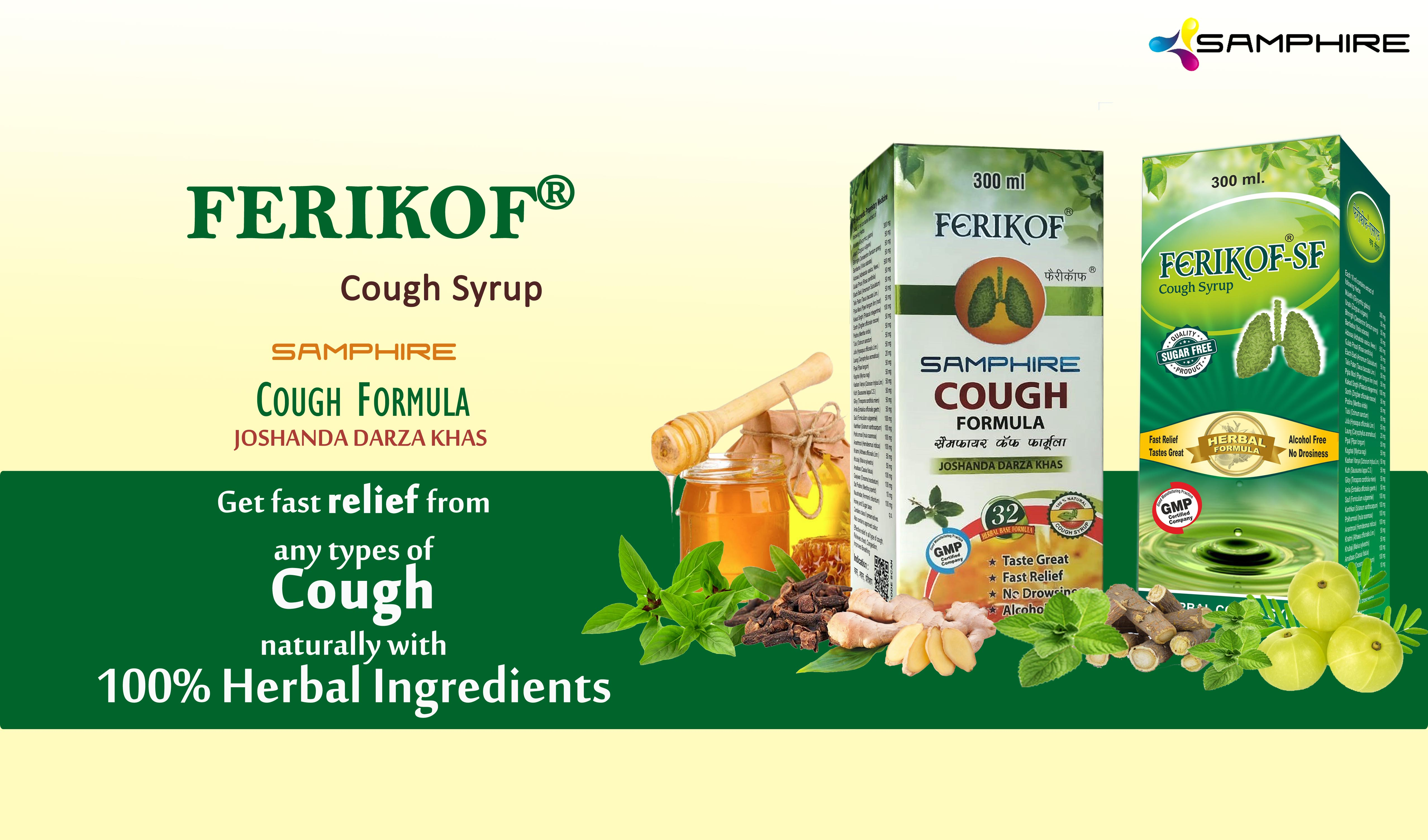 Ferikof Cough Syrup / Ferikof-SF Cough Syrup